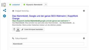 Klemmbrett Google-SEO