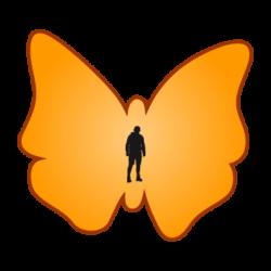 Aufkleber, Flyer, Plakate und vieles mehr als Schmetterling
