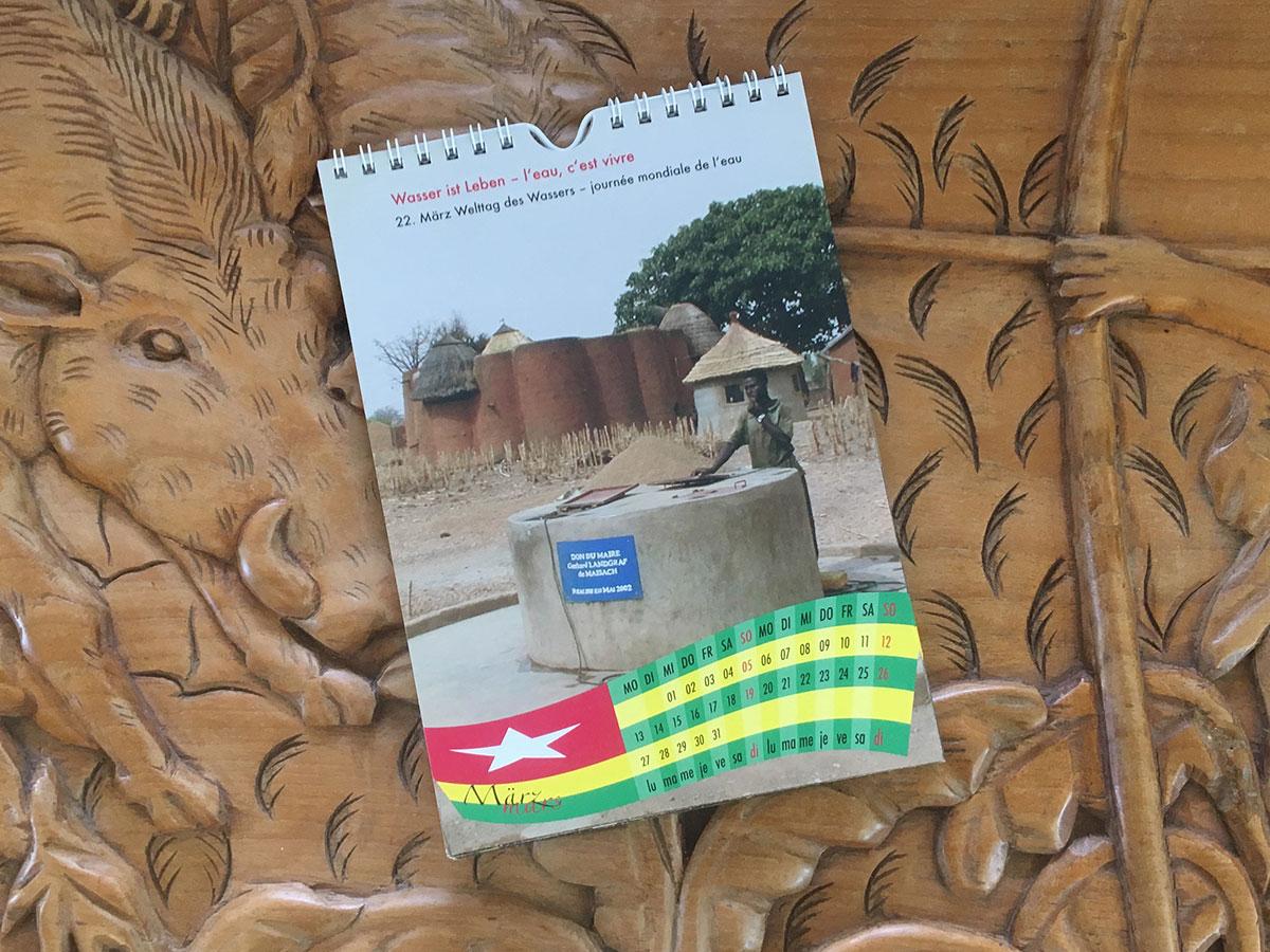 Das März-Blatt des Togo-Kalenders von 2006