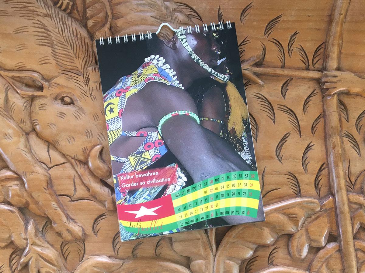 Das Juli-Blatt des Togo-Kalenders von 2006