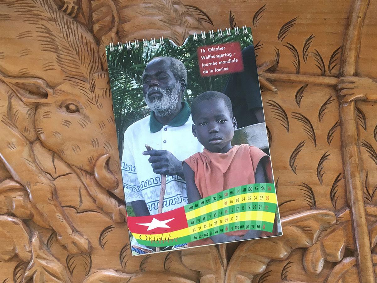 Das Oktober-Blatt des Togo-Kalenders von 2006