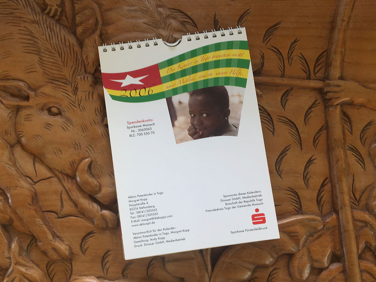 Das Schlussblatt des Togo-Kalenders von 2006