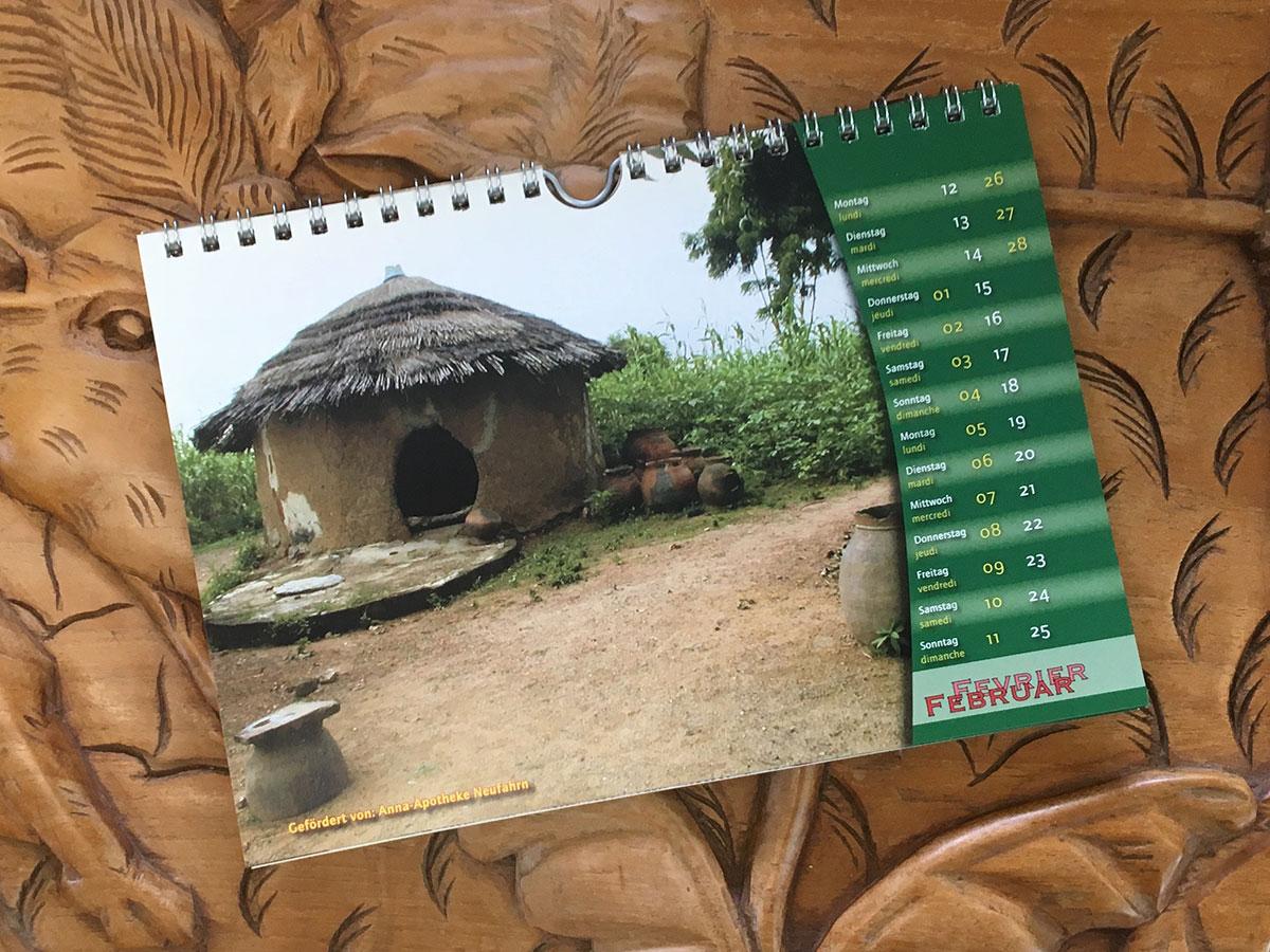 Das Februar-Blatt des Togo-Kalenders von 2007