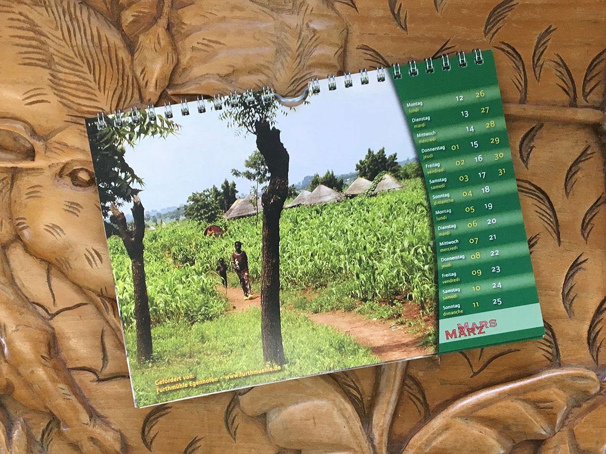 Das März-Blatt des Togo-Kalenders von 2007