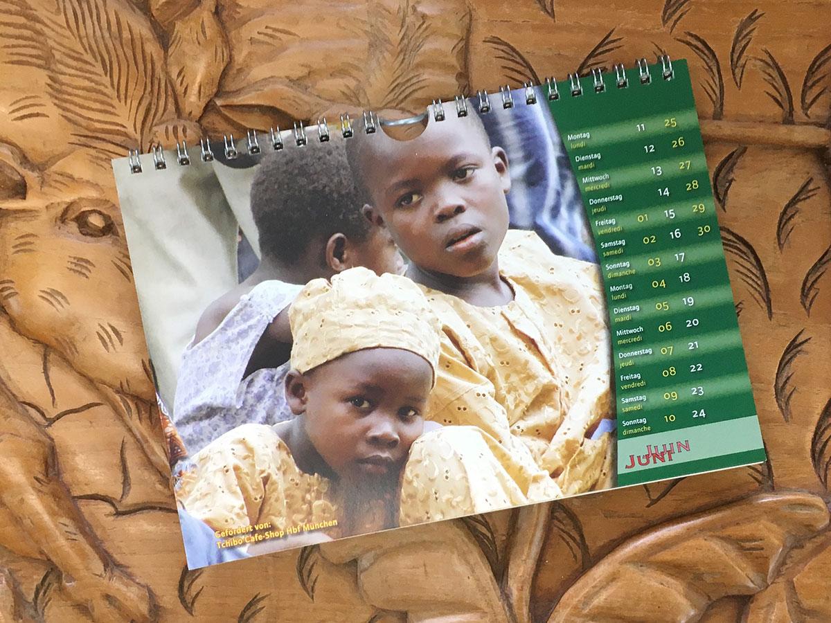 Das Juni-Blatt des Togo-Kalenders von 2007
