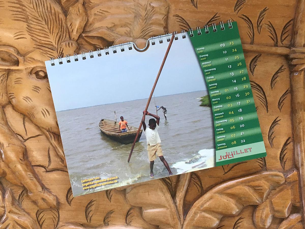 Das Juli-Blatt des Togo-Kalenders von 2007