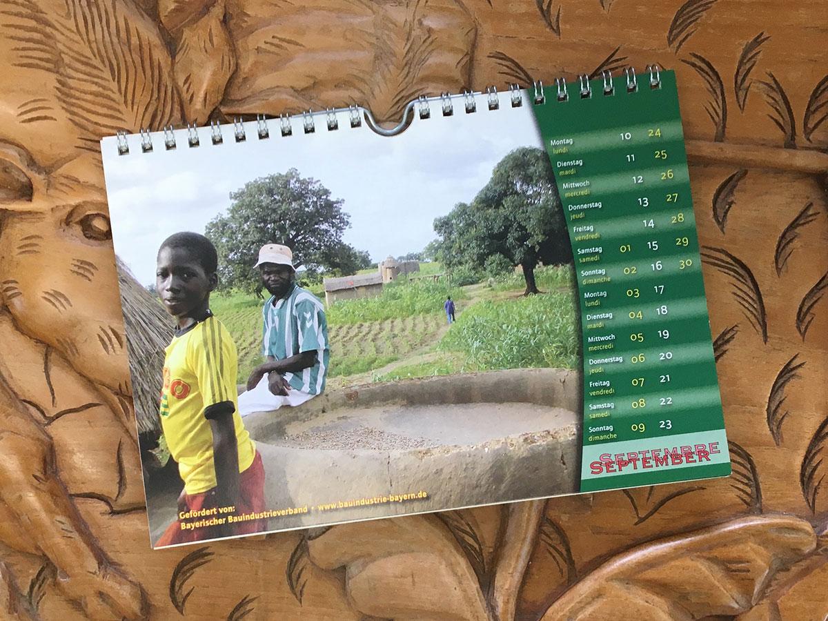 Das September-Blatt des Togo-Kalenders von 2007