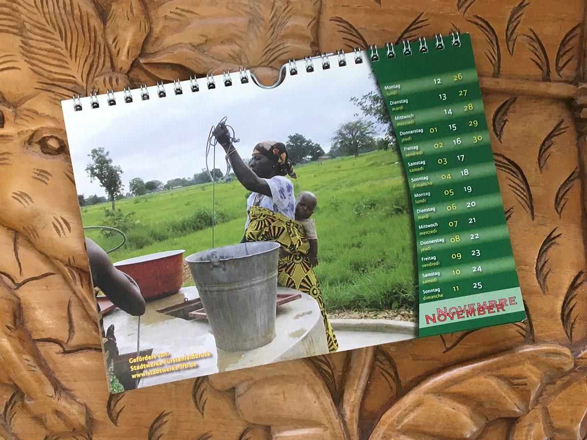 Das November-Blatt des Togo-Kalenders von 2007